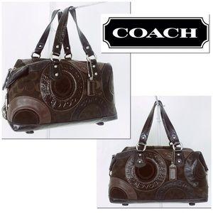 Coach Ashley Pieced Patchwork Convertible Satchel